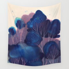 Blue Woodland Wall Tapestry