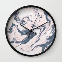 Rose Marble Wall Clock