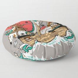 Miyazaki's ark Floor Pillow