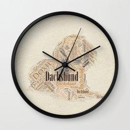 Dachshund Word Art Wall Clock