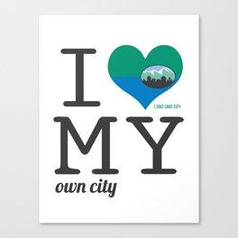 Salt Lake City - I love my own city. Utah Canvas Print