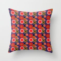 Groovy baby floral Throw Pillow