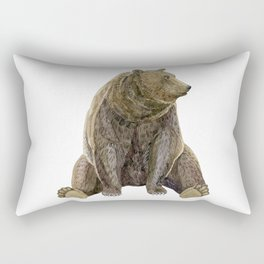 sitting bear print Rectangular Pillow