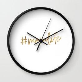 #momlife Wall Clock
