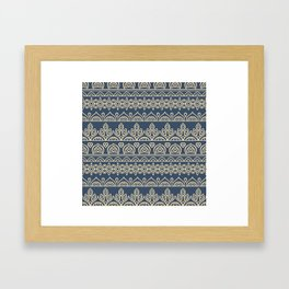 Stripes Mandala 2 Framed Art Print