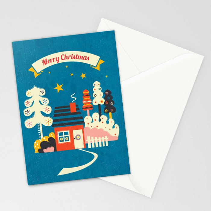 Festive Winter Hut Stationery Cards