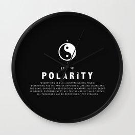 Law of Polarity Wall Clock