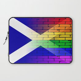 Gay Rainbow Wall Scotland Flag Laptop Sleeve
