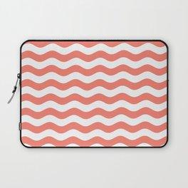 Wavy Stripes (Salmon/White) Laptop Sleeve