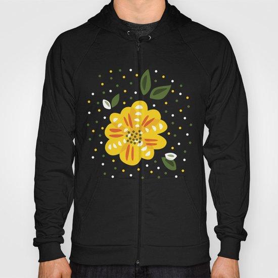 Abstract Yellow Primrose Flower Hoody