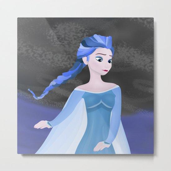 Blue hair Metal Print