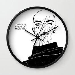 MISSINGYOU Wall Clock