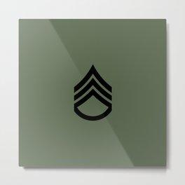 Staff Sergeant (Green) Metal Print