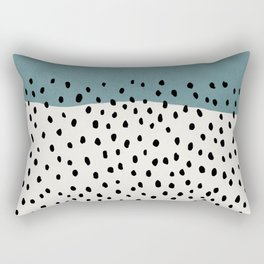 Rain, Abstract, Mid century modern kids wall art, Nursery room Rectangular Pillow