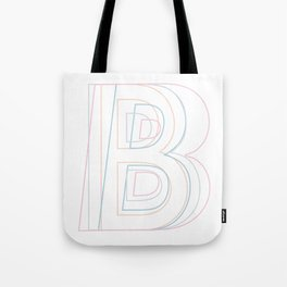 Intertwined Strength and Elegance of the Letter B Tote Bag
