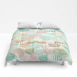 MERMAID SHELLS - MINT & ROSEGOLD Comforters