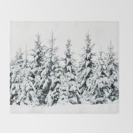 Snow Porn Throw Blanket