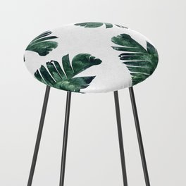 Banana Leaf Watercolor #society6 #buy #decor Counter Stool