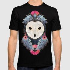 Owl 1 - Light MEDIUM Black Mens Fitted Tee