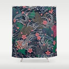 Blossom Blizzard Shower Curtain