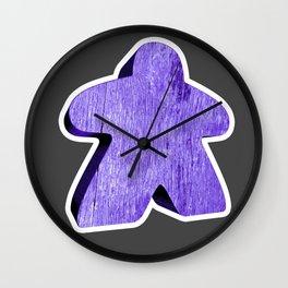 Giant Purple Meeple Wall Clock