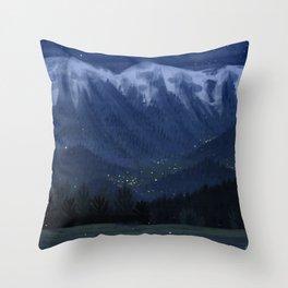Dusk lights Throw Pillow