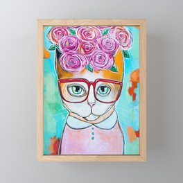 The Flower Girl Framed Mini Art Print