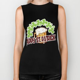 Costume For Patrick's Day. Beer Shirt Biker Tank