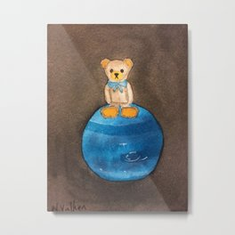 Artbear and Neptune Metal Print
