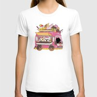 truck T-shirts featuring IceCream Truck by ShangheeShin