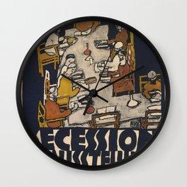 """Egon Schiele """"Secession 49. Exhibition"""" Wall Clock"""