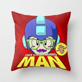8-bit Smiths - This Charming Mega Man Throw Pillow