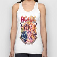 acdc Tank Tops featuring Highway to ACDC by Renato Cunha