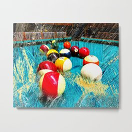 Modern billiards and pool art 3 Metal Print