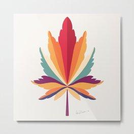 Autumnal leaf Metal Print