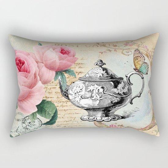 Vintage Flowers #17 Rectangular Pillow