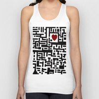 labyrinth Tank Tops featuring Love Labyrinth by Barruf designs