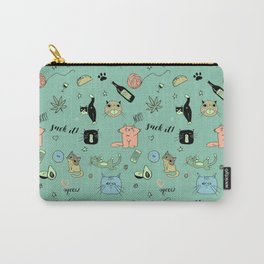 90% Cats Carry-All Pouch