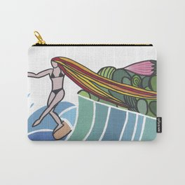 flowers and sea Carry-All Pouch