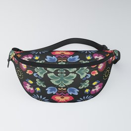 Fiesta Folk Black #society6 #folk Fanny Pack