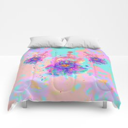 Colorful Watercolor Flower Comforters