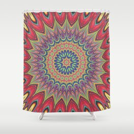 Flame mandala Shower Curtain