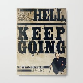 Winston Churchill Poster Metal Print