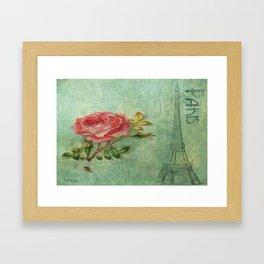 Paris Rose Framed Art Print