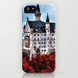 The Castle of Mad King Ludwig in the Autumn, Neuschwanstein Castle, Bavaria, Germany iPhone Case