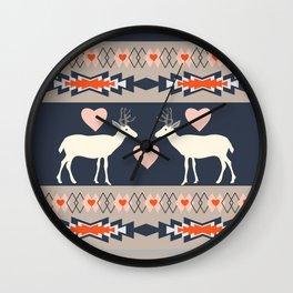 Romantic deer Wall Clock