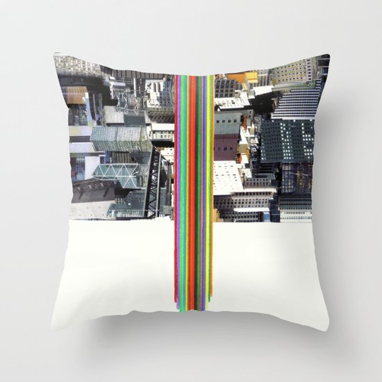 The Invisible Cities (dedicated to Italo Calvino) Throw Pillow