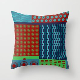 Japanese Style Colorful Patchwork Throw Pillow