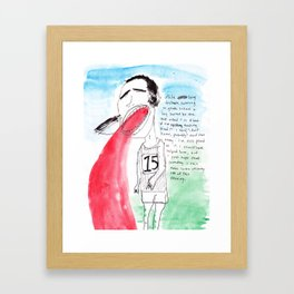LONG DISTANCE RUNNER Framed Art Print