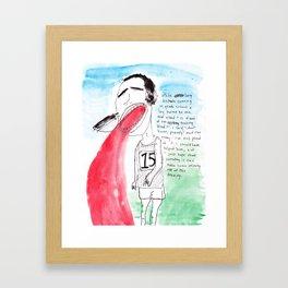 LONG DISTANCE RUNNER Framed Art Print